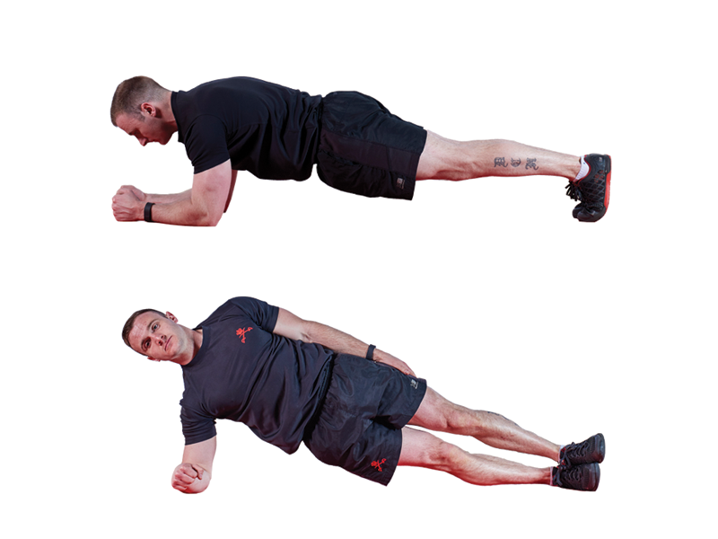 Plank Position Work Out