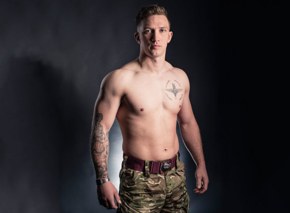 Army Parachute Regiment reservist Private Karl Fraser's tattoo