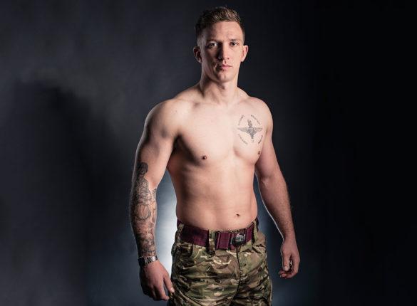 Army Parachute Regiment reservist Private Karl Fraser's tattoo