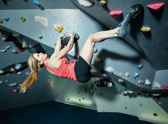 Indoor climbing is a great way to keep fit