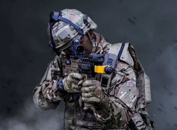Soldier wearing new TES kit